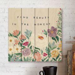 Inspirational Floral Wood Wall Art