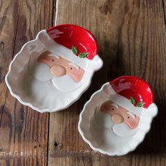 Jolly Santa Candy Dish, Set of 2