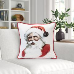 Jolly Santa Two Sided Throw Pillow