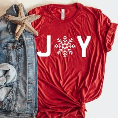 Joy Snowflake Holiday Tee Shirt