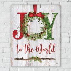 Joy To The World Canvas Wall Art