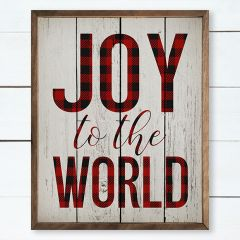 Joy To The World Framed Holiday Wall Sign