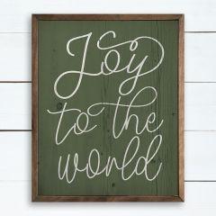 Joy To The World Green Wood Wall Art
