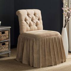 Jute Upholstered Vanity Chair