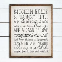 Kitchen Rules Wall Art