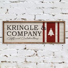 Kringle And Company Rustic Holiday Wall Sign