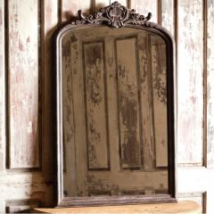 Large Antique Style Wood Framed Mirror