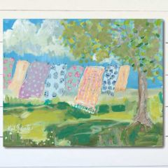 Laundry Day Wrapped Canvas Wall Art