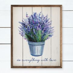 Lavender Do Everything With Love Wall Art