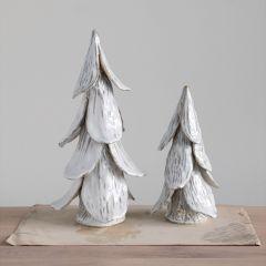 Layered Stoneware Tree Figurine