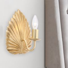 Leaf Style Wall Sconce, Set of 2
