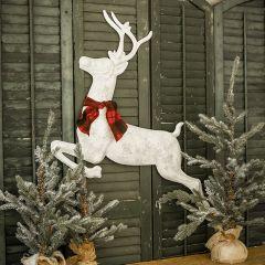 Leaping Metal Rustic Deer Wall Decor