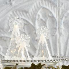 LED Decorative Glass Angels Set of 3