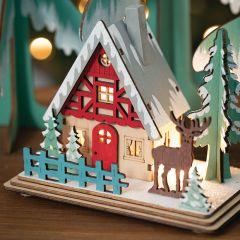 LED Holiday Village House Set of 3