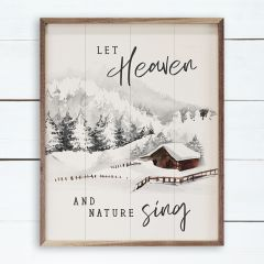 Let Heaven and Nature Sing Cabin White Wall Decor