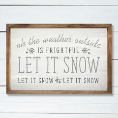 Let It Snow Framed Wall Sign