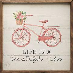 Life Is Beautiful Bike Wall Decor