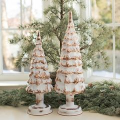 Lighted Glass Vintage Inspired Christmas Tree Set of 2