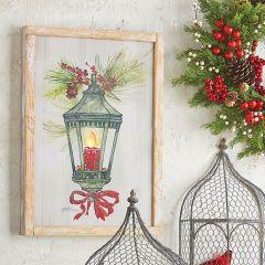 Lighted Lantern Wood Wall Art