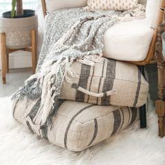 Linen Stripe Floor Cushion