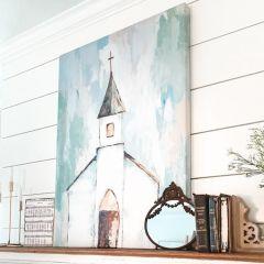 Little Church Canvas Art