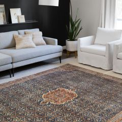 Loloi II Layla Collection Cobalt Blue And Spice Area Rug