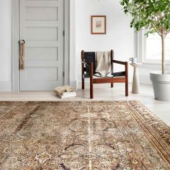 Loloi II Layla Collection Olive and Charcoal Rug