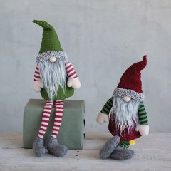 Long Legged Holiday Gnome Bottle Toppers Set of 2