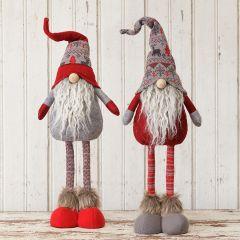 Long Legged Snow Lodge Gnome Figures Set of 2