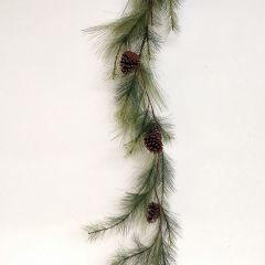 Long Needle Pine Garland With Pinecones