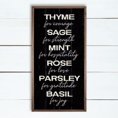 Love and Herbs Framed Wall Sign