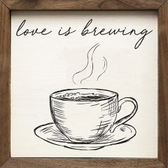 Love Is Brewing Framed Sign