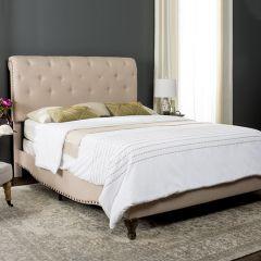 Lovely Linen Upholstered Bed