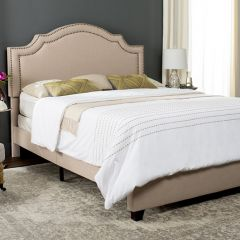 Luxurious Linen Upholstered Bed