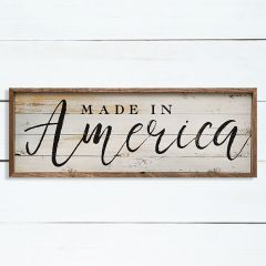 Made In America Framed Wall Sign