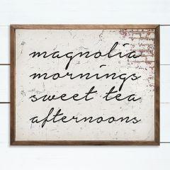 Magnolia Mornings Framed Wall Sign