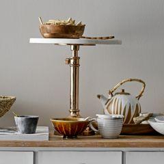 Marble Top Adjustable Pedestal Cake Stand