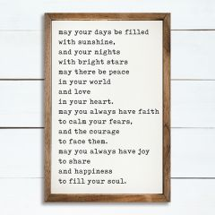 May Your Days Be Filled Framed Wall Sign