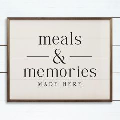 Meals and Memories Made Here Wall Art