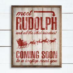 Meet Rudolph Framed Christmas Sign