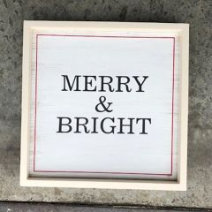 Merry and Bright Simple Framed Wall Sign