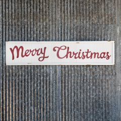 Merry Christmas Corrugated Metal Sign