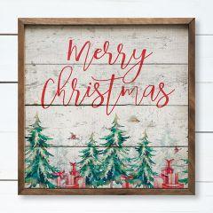 Merry Christmas Framed Farmhouse Wall Decor