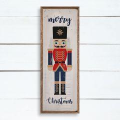 Merry Christmas Nutcracker Wall Art