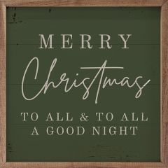 Merry Christmas To All Green Wall Sign