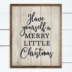 Merry Little Christmas Cottage Wall Art