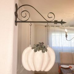 Metal Arrow Holder With Whitewashed Pumpkin Replacement