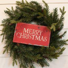 Metal Merry Christmas Hanging Sign Set of 2