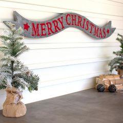 Metal Ribbon Merry Christmas Banner