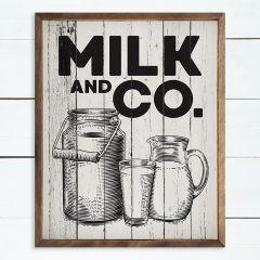 Milk and Co. Framed Farmhouse Sign